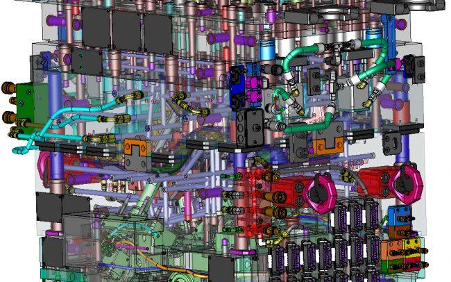 XMD 3D Mold Design Multi-Color Multi-Material Retractor Blades