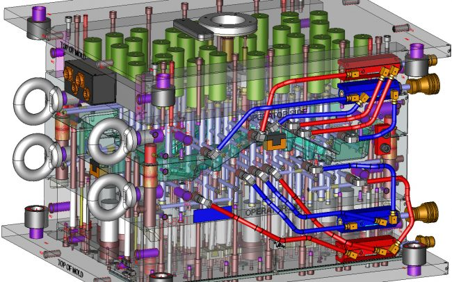 XMD 3D Mold Design completed fast thanks to powerful automation